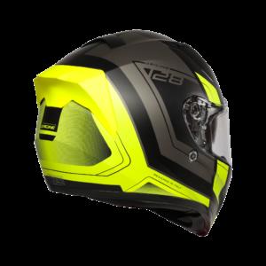 Casco moto integrale Origine Strada nero giallo fluo opaco