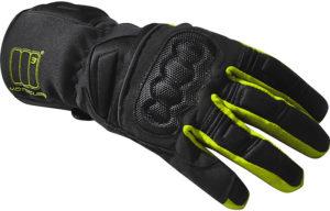 Guanti moto invernali Motocubo Adventure nero giallo fluo