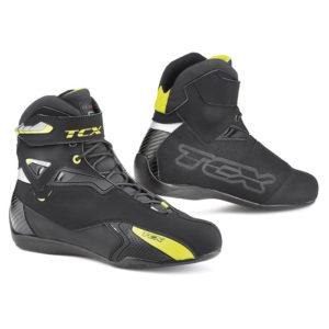 Scarpe moto Tcx Rush waterproof nero giallo fluo
