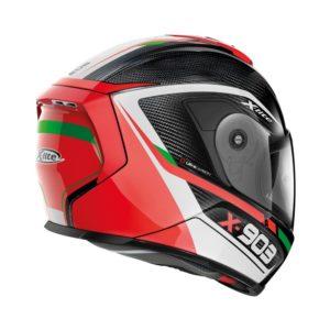 Casco Integrale X-Lite X-903 Ultra Carbon Cavalcade N-Com Nero Rosso Verde