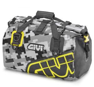 Borsone impermeabile Givi EA115CM 40 lt camouflage grigio giallo fluo