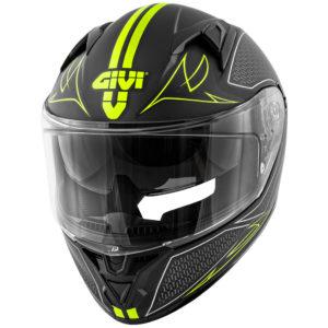 Casco moto integrale Givi 50.6 Splinter nero giallo fluo opaco