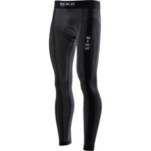 Pantalone leggins unisex con fondello Sixs PN2L Nero Carbon