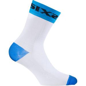 Calza tecnica corta Sixs White Short Light Blu