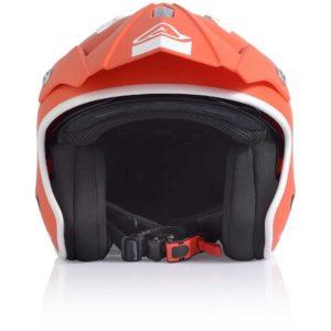 Casco moto jet Acerbis Aria Rosso Tangerine