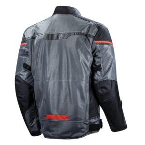 Giacca moto traforata Ls2 Riva Grigio Rosso