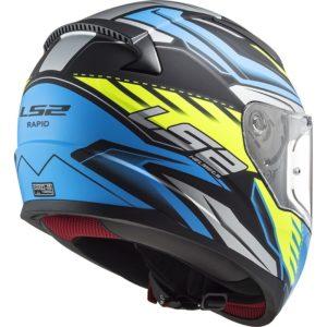 Casco moto integrale Ls2 Rapid Gale azzurro giallo