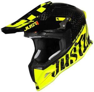 Casco cross-enduro Just1 J12 Pro Racer Giallo Fluo Carbon