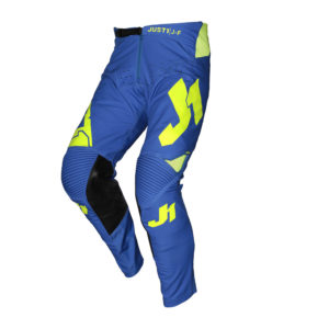 Pantaloni cross-enduro Just1 J-Flex Aria Giallo Fluo Blu
