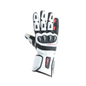 Guanti moto in pelle Prexport Gp Pro Bianco