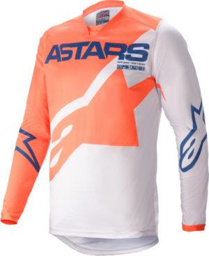 Maglia bimbo cross-enduro Alpinestars Racer Braap Arancione Blu