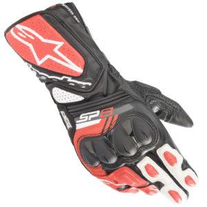 Guanti moto in pelle Alpinestars Sp8 V3 Nero Rosso
