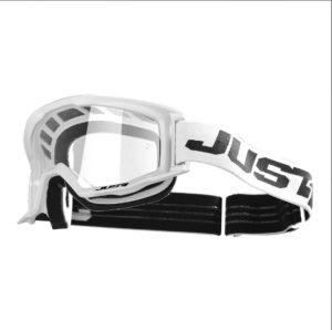 Maschera cross-enduro Just1 Vitro Bianco