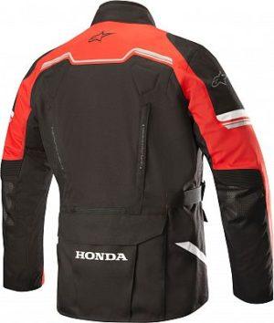 Giacca moto quattro stagioni Alpinestars Andes V2 Drystar Honda Nero Rosso