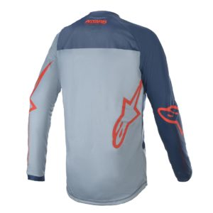 Maglia bimbo cross-enduro Alpinestars Racer Braap Blu Rosso