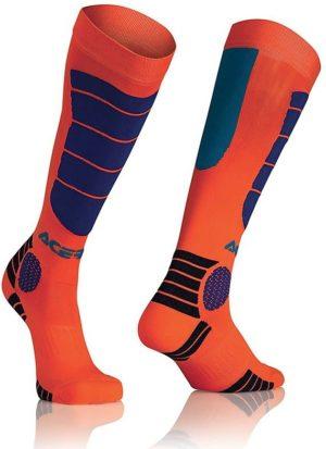 Calze Moto Tecniche Acerbis MX Impact Socks Arancio Blu