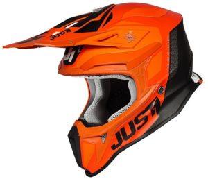 Casco cross-enduro Just1 J18 Pulsar Arancione Fluo Nero
