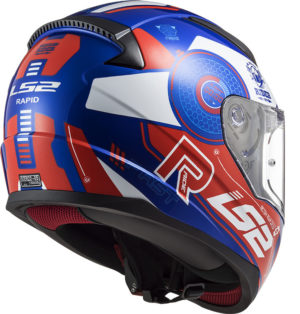 Casco moto integrale Ls2 Rapid Stratus Blu Rosso