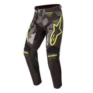 Pantalone bimbo cross-enduro Alpinestars Racer Tactical Camo Giallo Fluo
