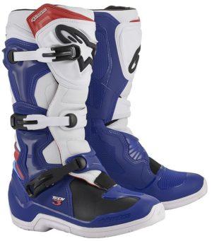 Stivali cross-enduro Alpinestars Tech 3 Blu Bianco Rosso