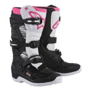 Stivali cross-enduro donna Alpinestars Stella Tech 3 Nero Bianco Rosa