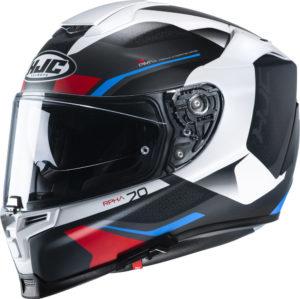 Casco moto integrale Hjc Rpha 70 Kosis MC4HSF In Fibra Nero Blu Rosso
