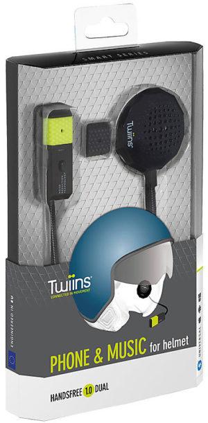 Interfono bluetooth Cellularline Twiins HF1 Dual Singolo