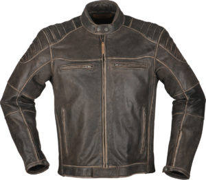 Giacca moto in pelle Modeka Vincent Marrone