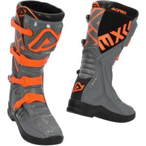 Stivali cross-enduro Acerbis X-Team Grigio Arancione