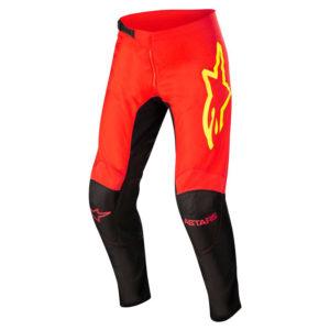 Pantalone cross-enduro Alpinestars Fluid Tripple Nero Rosso Giallo Fluo