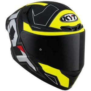 Casco moto integrale Kyt TT-Course Grand Prix Nero Giallo