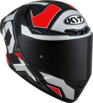 Casco moto integrale Kyt TT-Course Electron Grigio Opaco Rosso